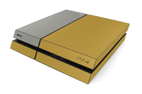 Playstation 4 Two/Tone - Brushed Gold/Titanium - iCarbons