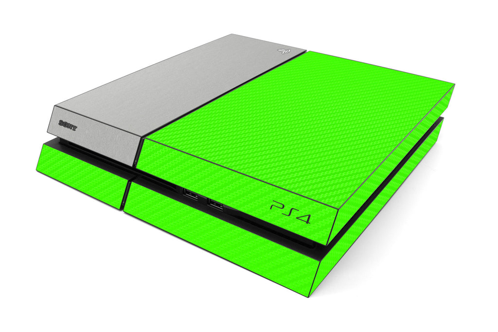 Playstation 4 Two/Tone - Green/Brushed Aluminum - iCarbons
