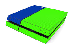 Playstation 4 Two/Tone - Green/Blue Carbon Fiber