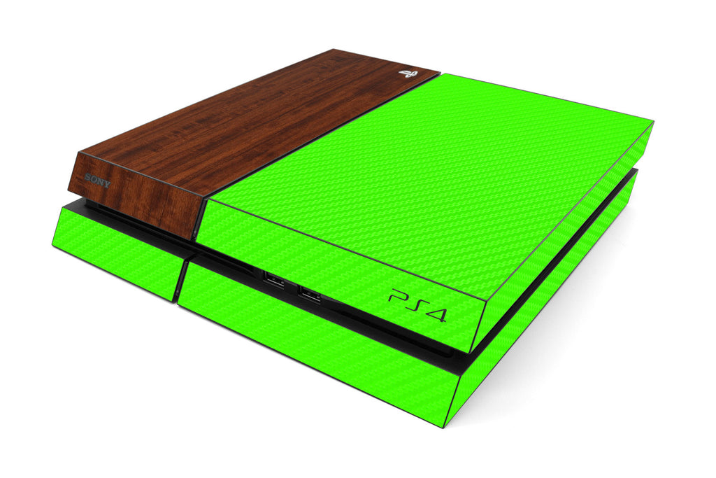 Playstation 4 Two/Tone - Green/Dark Wood - iCarbons