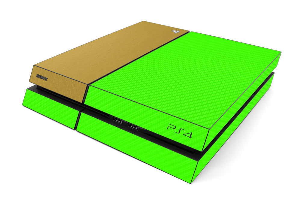 Playstation 4 Two/Tone - Green/Brushed Gold - iCarbons