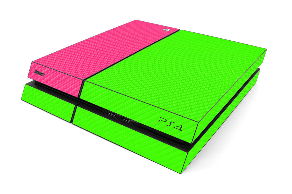 Playstation 4 Two/Tone - Green/Pink Carbon Fiber - iCarbons