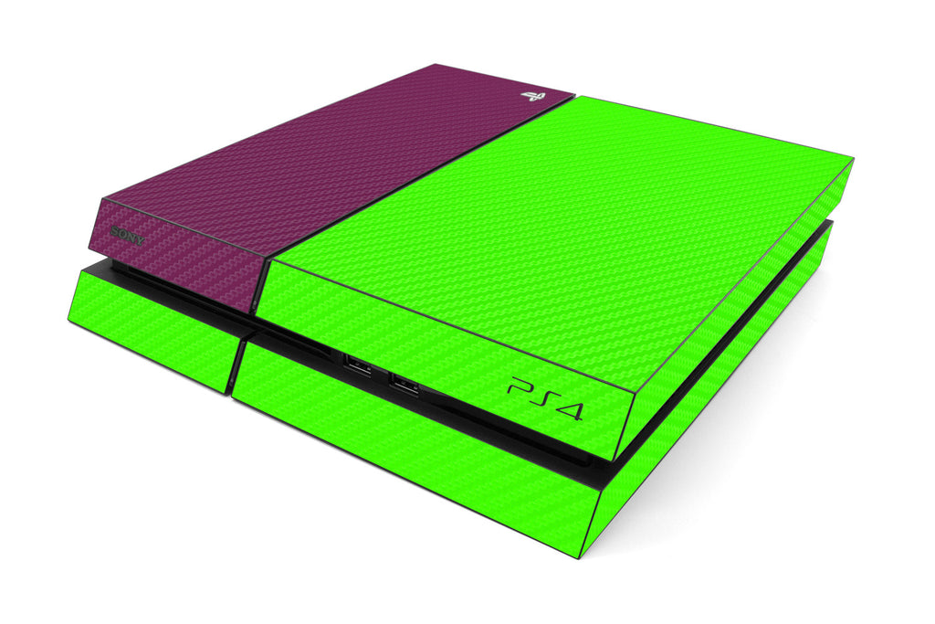 Playstation 4 Two/Tone - Green/Purple Carbon Fiber - iCarbons