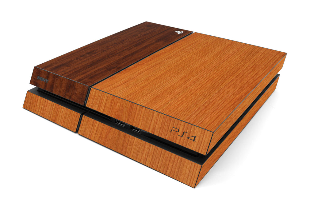Playstation 4 Two/Tone - Light/Dark Wood - iCarbons