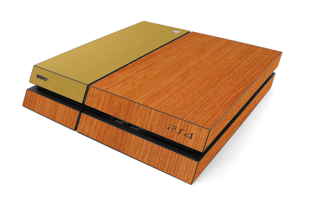 Playstation 4 Two/Tone - Light Wood/Brushed Gold - iCarbons
