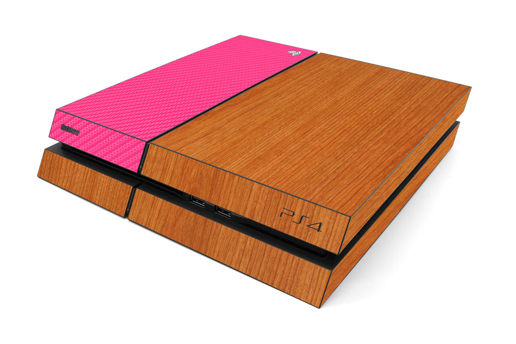 Playstation 4 Two/Tone - Light Wood/Pink Carbon Fiber - iCarbons