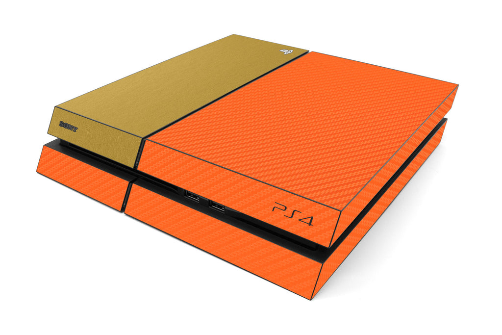 Playstation 4 Two/Tone - Orange/Brushed Gold - iCarbons