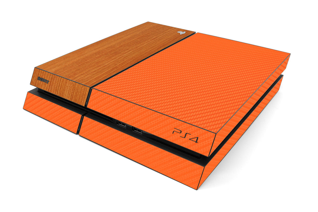 Playstation 4 Two/Tone - Orange/Light Wood - iCarbons
