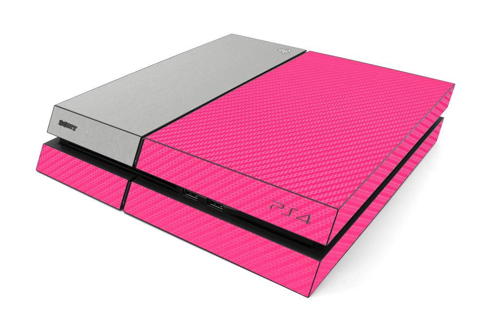 Playstation 4 Two/Tone - Pink/Brushed Aluminum - iCarbons