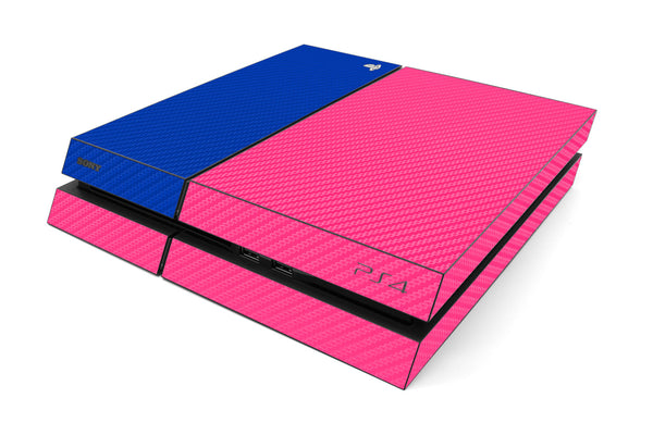 Playstation 4 Two/Tone - Pink/Blue Carbon Fiber - iCarbons