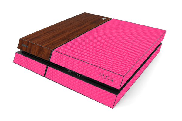 Playstation 4 Two/Tone - Pink/Dark Wood - iCarbons