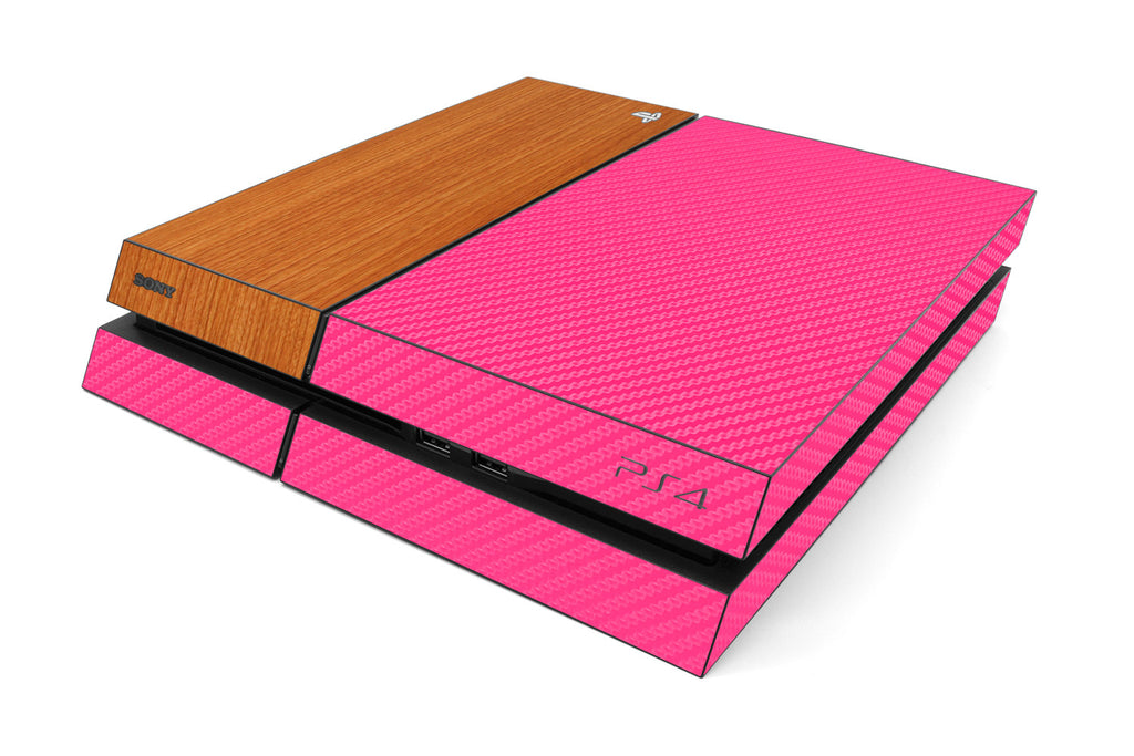 Playstation 4 Two/Tone - Pink/Light Wood - iCarbons
