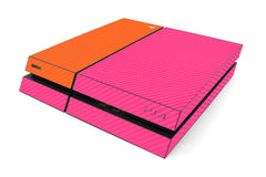 Playstation 4 Two/Tone - Pink/Orange Carbon Fiber