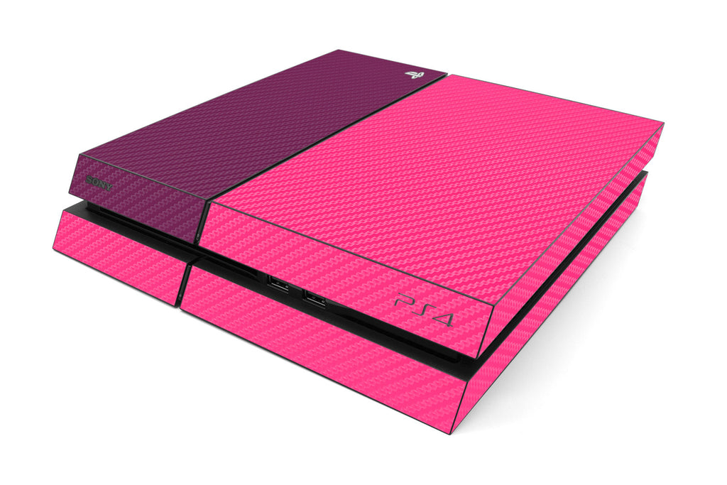 Playstation 4 Two/Tone - Pink/Purple Carbon Fiber - iCarbons