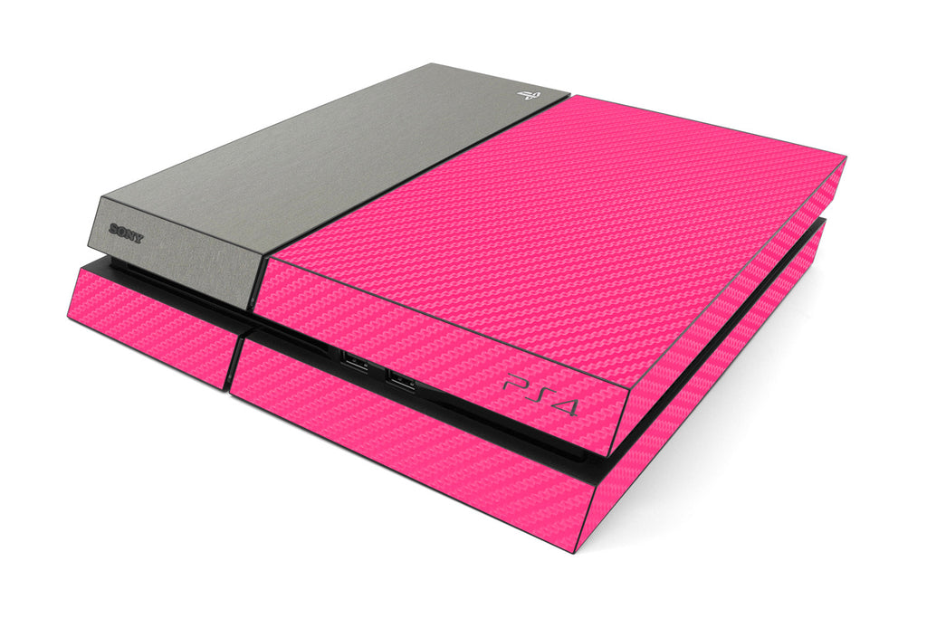 Playstation 4 Two/Tone - Pink/Brushed Titanium - iCarbons