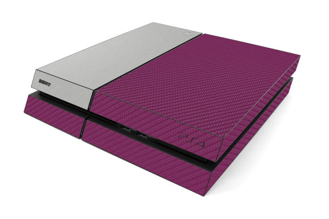 Playstation 4 Two/Tone - Purple/Brushed Aluminum - iCarbons