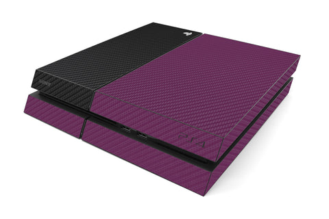 Playstation 4 Two/Tone - Purple/Black Carbon Fiber - iCarbons