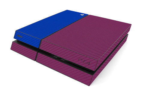 Playstation 4 Two/Tone - Purple/Blue Carbon Fiber - iCarbons