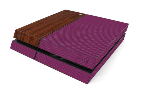 Playstation 4 Two/Tone - Purple/Dark Wood - iCarbons