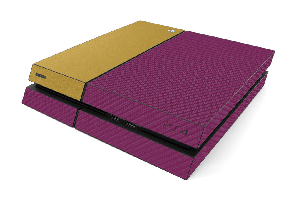 Playstation 4 Two/Tone - Purple/Brushed Gold - iCarbons