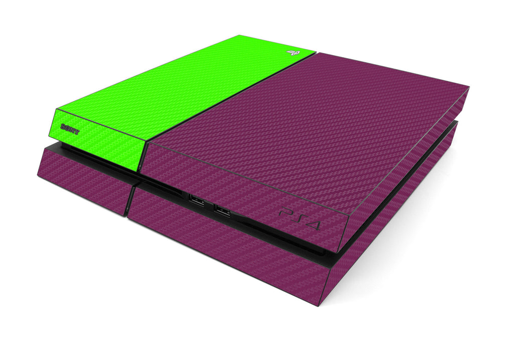 Playstation 4 Two/Tone - Purple/Green Carbon Fiber - iCarbons