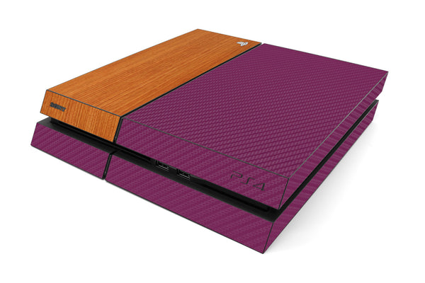 Playstation 4 Two/Tone - Purple/Light Wood - iCarbons