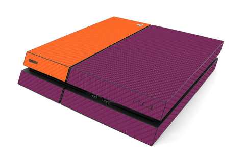 Playstation 4 Two/Tone - Purple/Orange Carbon Fiber - iCarbons