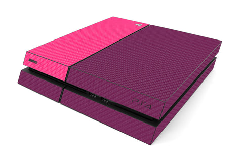 Playstation 4 Two/Tone - Purple/Pink Carbon Fiber - iCarbons