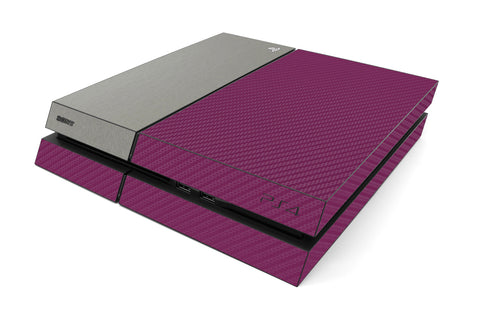Playstation 4 Two/Tone - Purple/Brushed Titanium - iCarbons