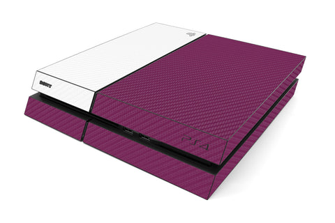 Playstation 4 Two/Tone - Purple/White Carbon Fiber - iCarbons