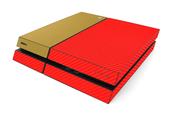 Playstation 4 Two/Tone - Red/Brushed Gold - iCarbons