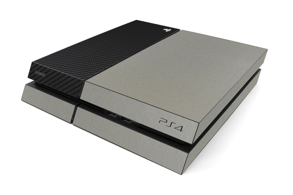 Playstation 4 Two/Tone - Brushed Titanium/Black Carbon Fiber - iCarbons