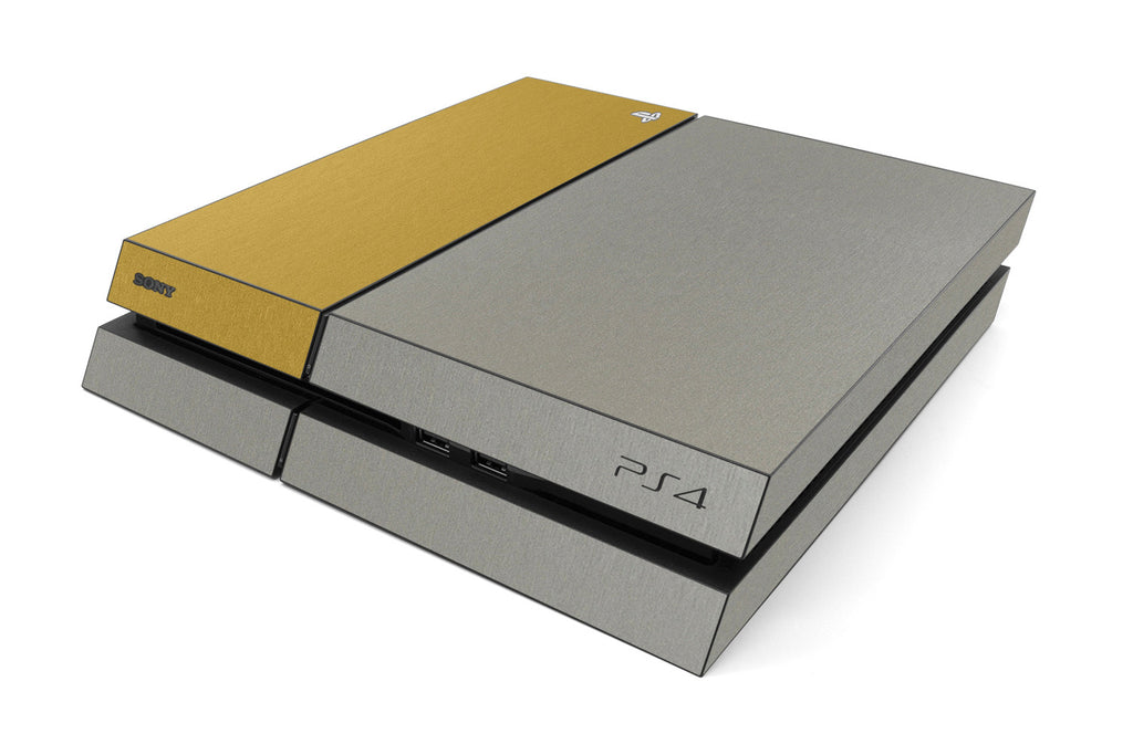 Playstation 4 Two/Tone - Brushed Titanium/Gold - iCarbons