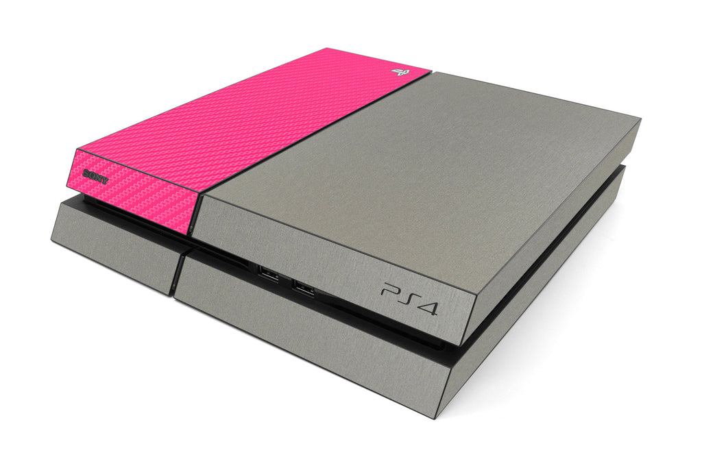 Playstation 4 Two/Tone - Brushed Titanium/Pink Carbon Fiber - iCarbons