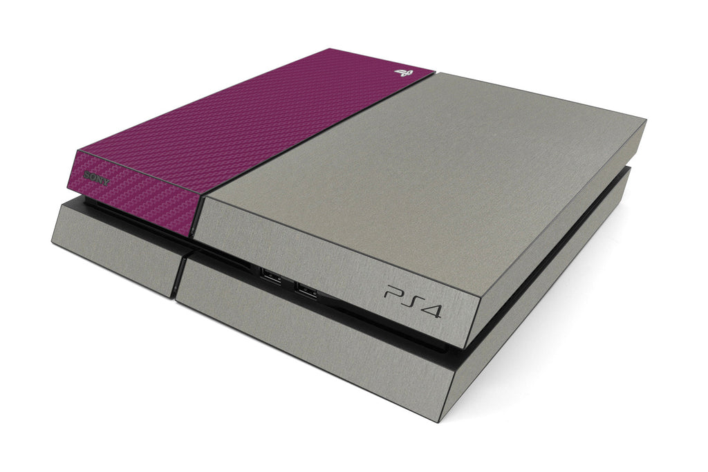 Playstation 4 Two/Tone - Brushed Titanium/Purple Carbon Fiber - iCarbons