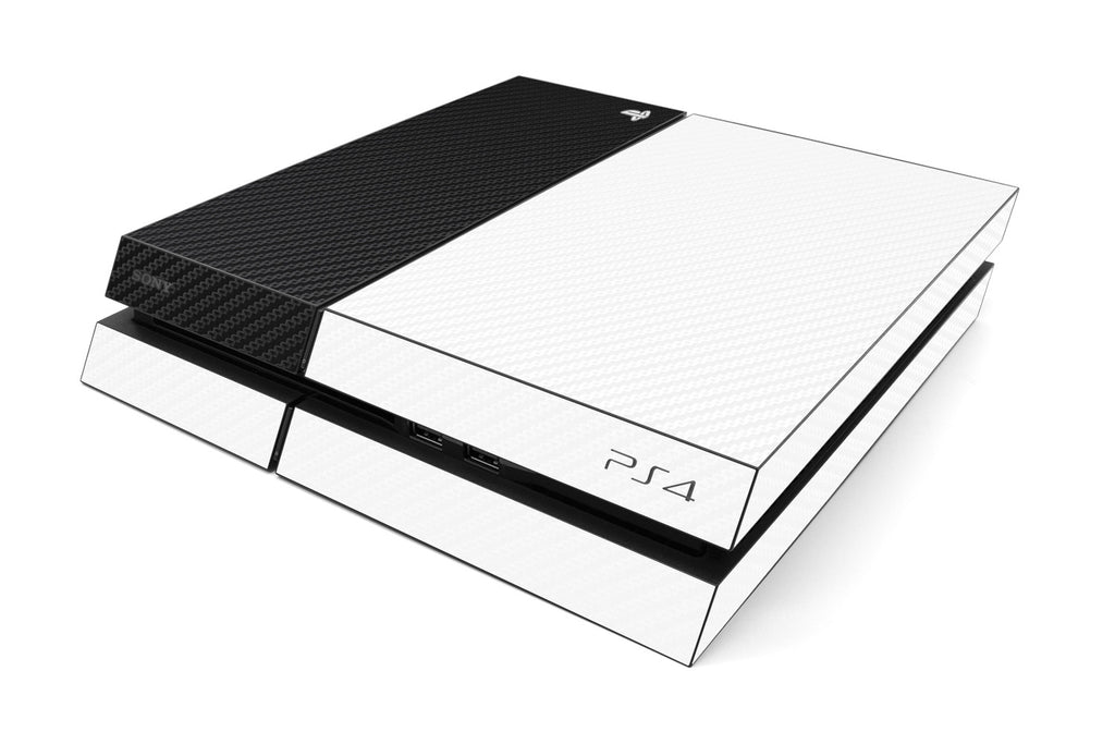 Playstation 4 Two/Tone - White/Black Carbon Fiber - iCarbons
