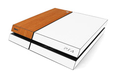Playstation 4 Two/Tone - White/Light Wood