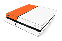 Playstation 4 Two/Tone - White/Orange Carbon Fiber
