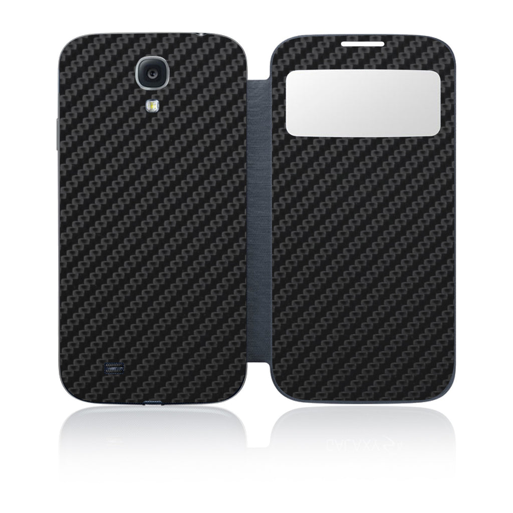 Galaxy S4 S-View Flip Cover - Black Carbon Fiber - iCarbons