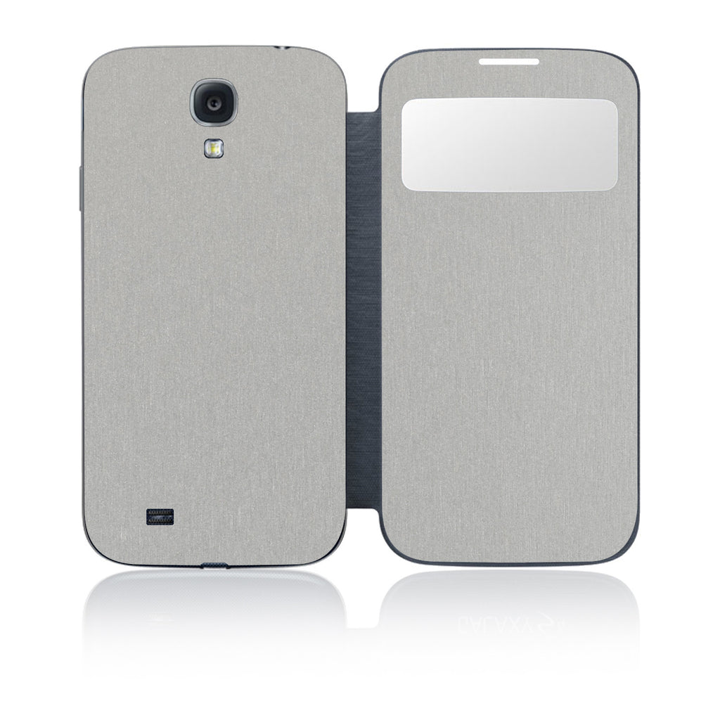 Galaxy S4 S-View Flip Cover - Brushed Aluminum - iCarbons