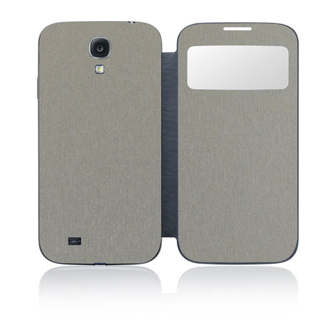 Galaxy S4 S-View Flip Cover - Brushed Titanium - iCarbons