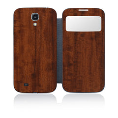 Galaxy S4 S-View Flip Cover - Dark Wood