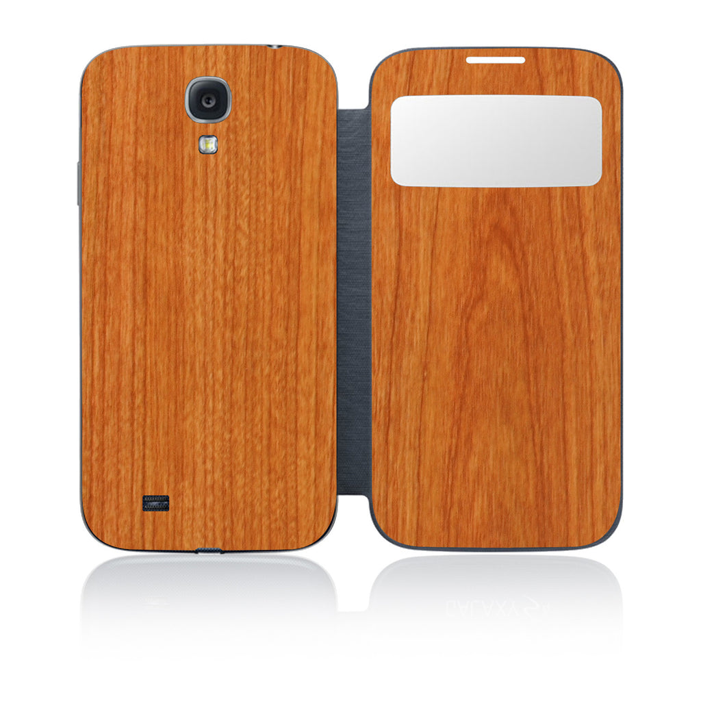 Galaxy S4 S-View Flip Cover - Light Wood - iCarbons