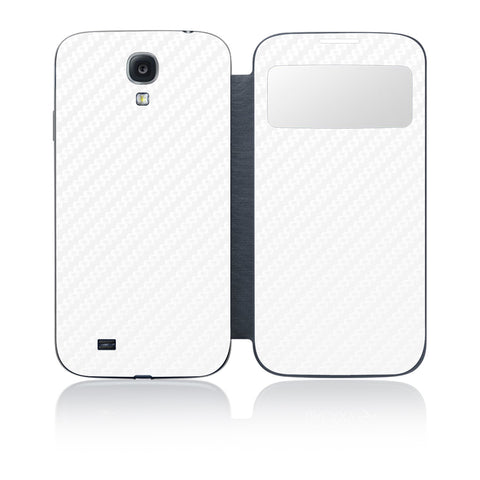 Galaxy S4 S-View Flip Cover - White Carbon Fiber - iCarbons