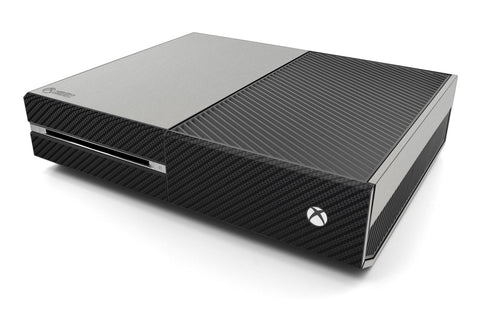 Xbox One Two/Tone - Brushed Aluminum/Black Carbon Fiber - iCarbons