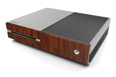 Xbox One Two/Tone - Brushed Aluminum/Dark Wood - iCarbons
