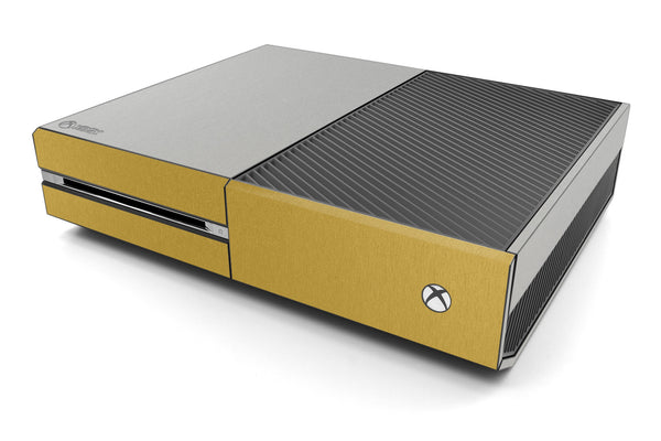 Xbox One Two/Tone - Brushed Aluminum/Gold - iCarbons