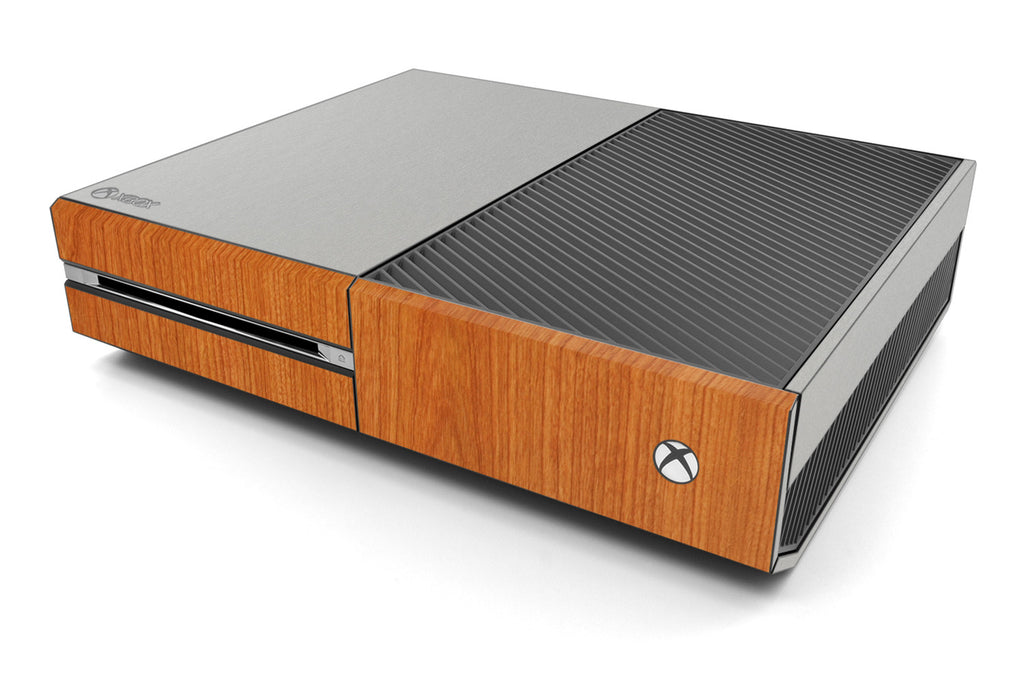 Xbox One Two/Tone - Brushed Aluminum/Light Wood - iCarbons