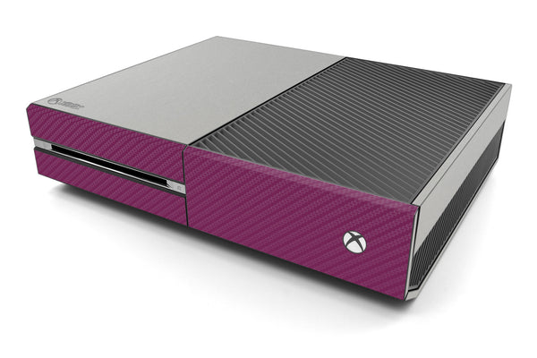 Xbox One Two/Tone - Brushed Aluminum/Purple Carbon Fiber - iCarbons