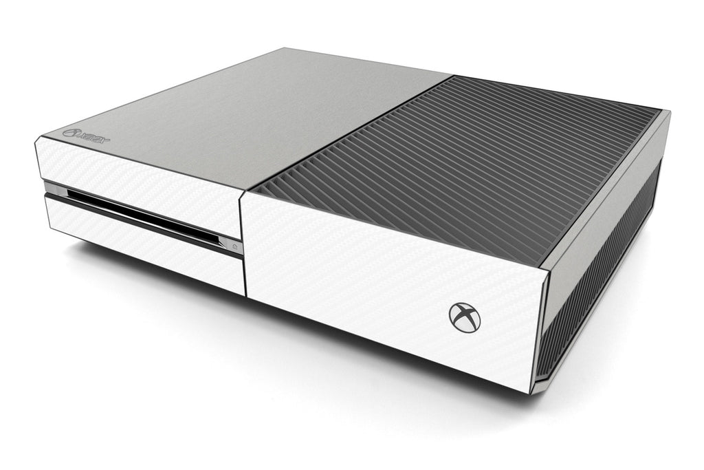 Xbox One Two/Tone - Brushed Aluminum/White Carbon Fiber - iCarbons